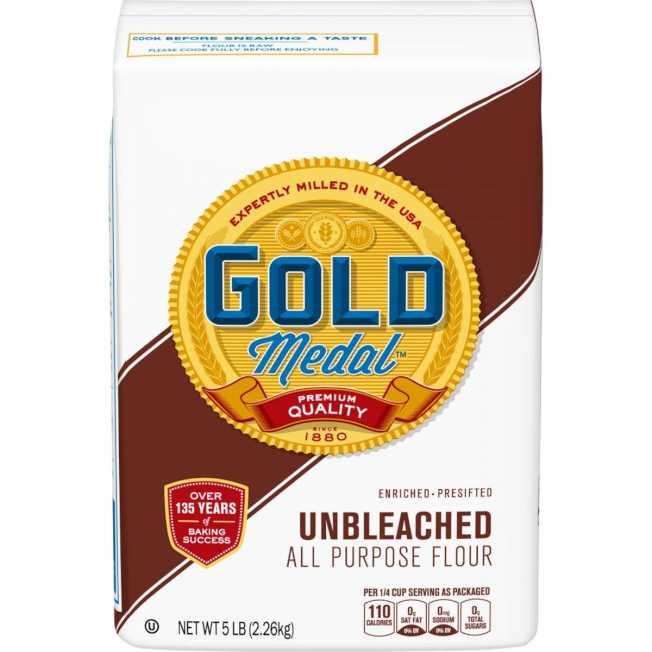 因有大腸桿菌疑慮,麵粉生產商通用磨坊召回該公司所生產「金牌」(Gold Medal)品牌約60萬磅麵粉。(取自通用磨坊官網)