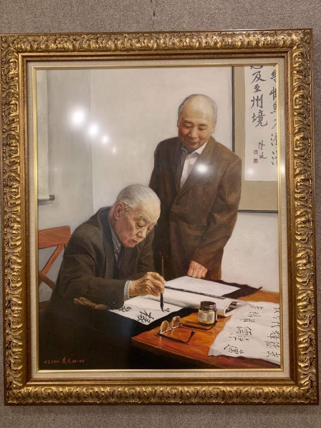 王己千、張隆延對後代藝術家影響深遠。(記者賴蕙榆/攝影)