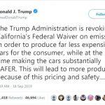 「川普不准加州自訂汽車排廢標準  州長和環保團體要提告