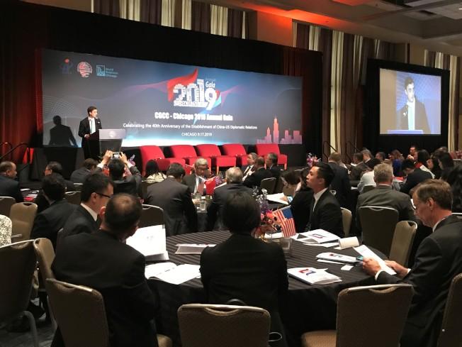 300多人出席了美國中國總商會芝加哥商會年會。(特派員黃惠玲/攝影)