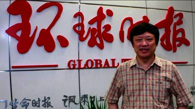 環球時報總編輯胡錫進在微博上抱怨最近「十一」網管審查極嚴,還稱這樣做有點過了,沒多久又刪文。(取材自FT中文網)