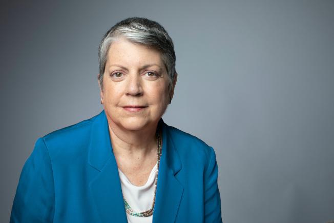 加州大學(UC)總校長納波利塔諾(Janet Napolitano)在領導加大六年後,18日宣布辭職。(加州大學官網)