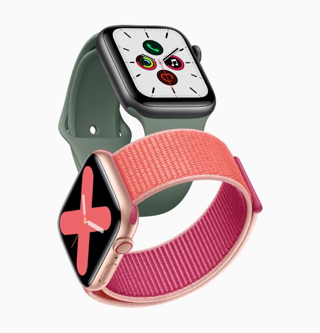 Apple Watch Series 5新登場,升級隨顯螢幕並推出新材質錶殼。(圖:蘋果提供)