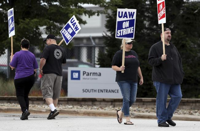 GM罷工不是只有5萬人的事。(美聯社)