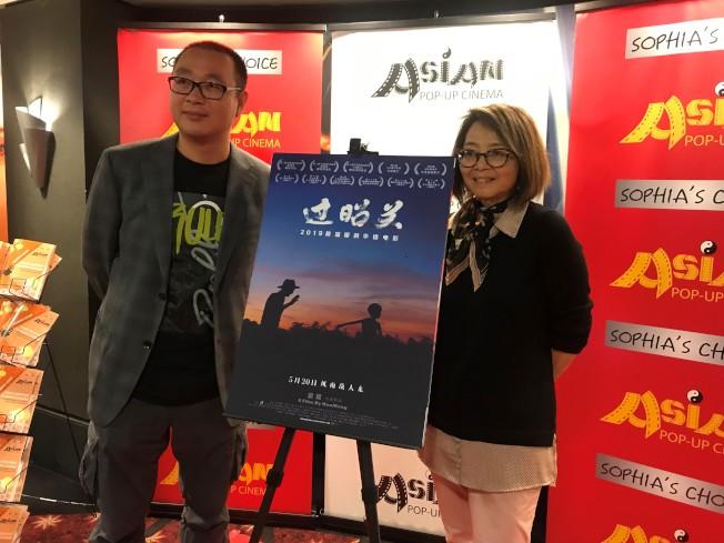 「過昭關」導演霍猛(左)與亞洲躍動影展主辦人王曉菲(右)。(特派員黃惠玲/攝影)