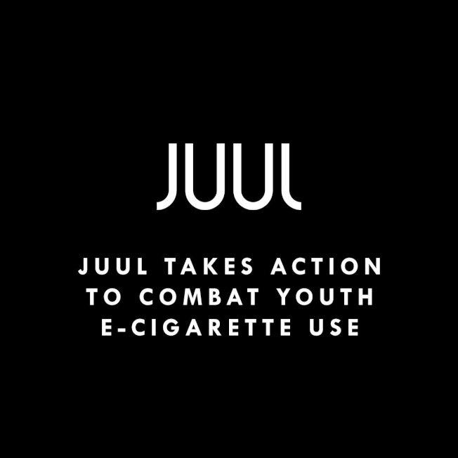麻州州府和波士頓市府都表示將考慮收緊電子煙和加味煙草產品銷售監管。圖為電子煙品牌在推特上表達會採取行動來對抗青少年電子煙使用。(取自JUUL推特)