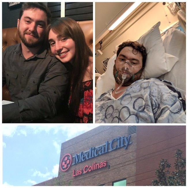 醫治馬徹斯基的醫院在推特上感謝媒體提高對電子菸危害健康的重視。(Medical City Las Colinas 醫院推特)