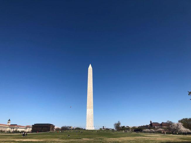 經過三年維修,華盛頓紀念碑19日重新開放。(記者張筠 / 攝影)