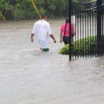 豪雨釀災 中國城積水車拋錨