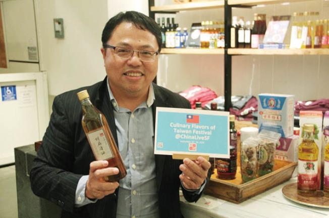 潘永祥一直在海外推廣台灣美食文化,並與明店China Live合作舉辦「台灣之味嘉年華」。(記者李晗/攝影)