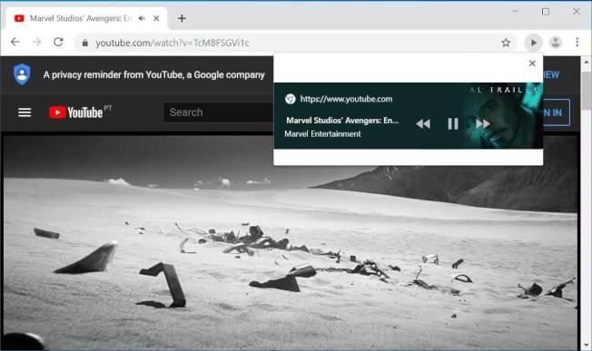 """桌机版网址列新增可控制各分页""""媒体播放的按钮""""。(取材自bleepingcomputer)"""