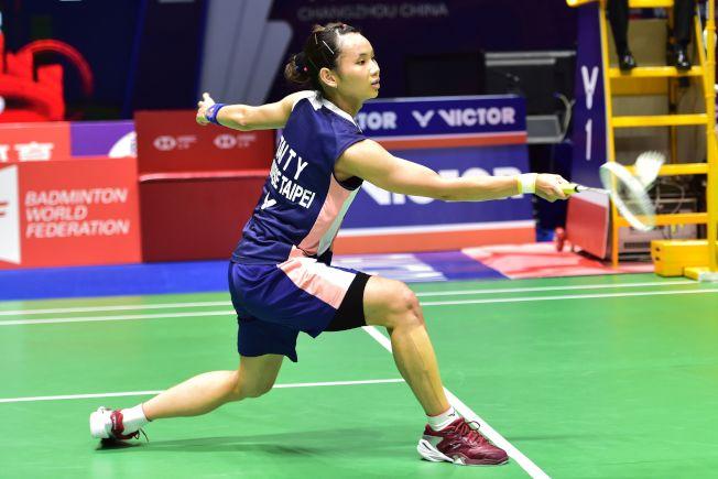 中國羽毛球公開賽,戴資穎20日僅花33分鐘就擊敗對手晉級四強。(Getty Images)