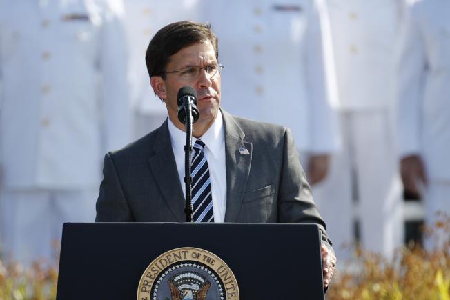 美國國防部長艾思博表示,美國將增援中東地區。美聯社