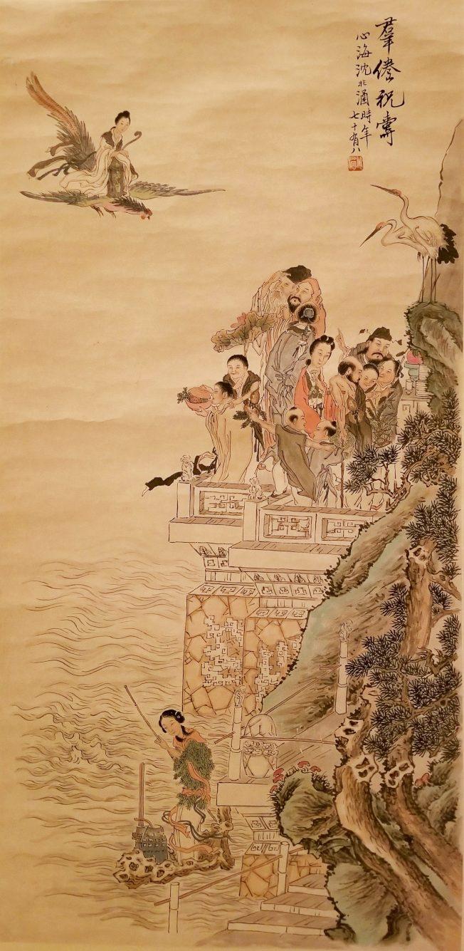 美中政策基金會正在華府展出孫中山、毛澤東、林則徐等眾多中國歷史人物的書法作品,以及上海畫派等近現代中國繪畫作品。(美中政策基金會提供)