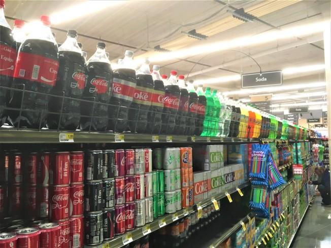 明州人越來越胖,喜歡喝含糖飲料為主要原因。(記者陳曼玲/攝影)