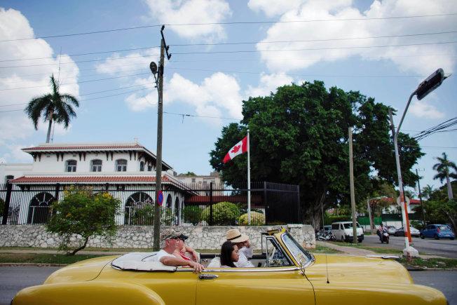 加拿大駐古巴首都哈瓦那大使館。(路透)