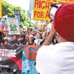 數千學生上街 響應氣候罷課
