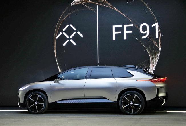 法拉第電動車FF91概念車。(網路照片)