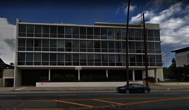 駐洛杉磯台北經濟文化辦事處新館「事事如意」23日揭牌,裝修工程2020年3月開工。(取材自Google Map)