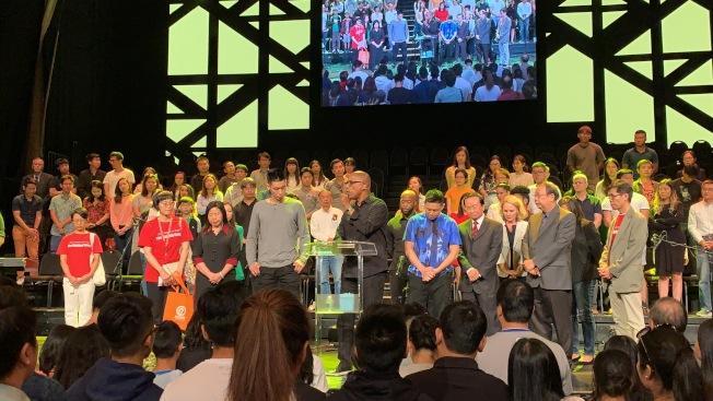角聲21日舉辦第三屆林書豪見證會「等待的藝術」,吸引逾3000名民眾到場。(記者賴蕙榆/攝影)
