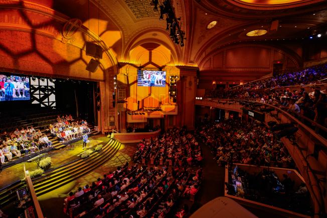 角聲21日舉辦第三屆林書豪見證會「等待的藝術」,吸引逾3000人入場。(主辦方提供)