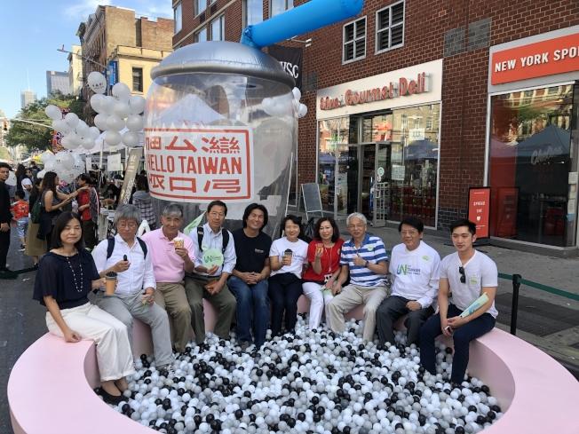「Hello Taiwan紐約珍奶節」曼哈頓雀兒喜登場。(記者張晨/攝影)