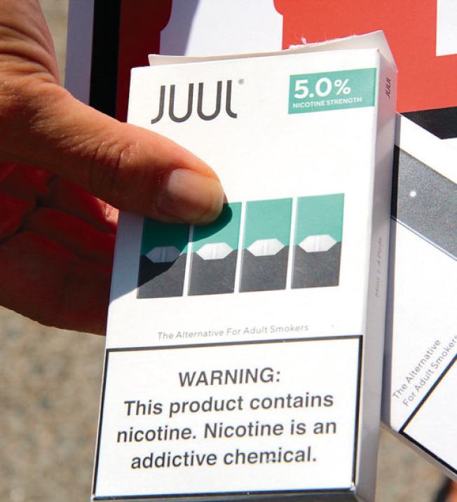 電子菸草商JUUL大舉砸錢支持C提案。(記者李晗/攝影)