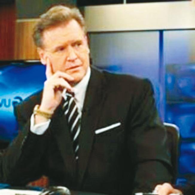 灣區2號頻道KTVU電視台的主播森馬維爾(Frank Somerville,圖)的汽車也被破窗竊盜,使他大怒,在節目中發飆,說舊金山的汽車破窗案實在太猖獗。(取自推特)