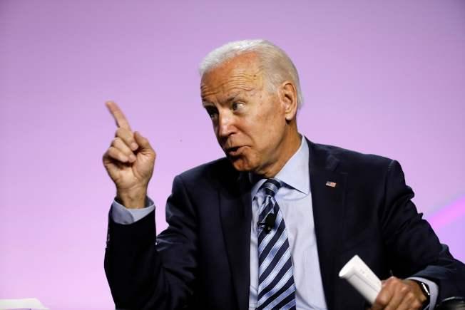 白登反擊,要求白宮公布川普與烏克蘭總統通話紀錄。(Getty Images)