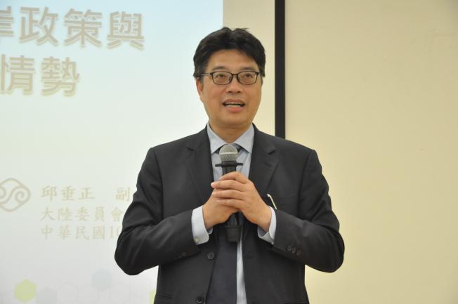 邱垂正表示,中國多項作法都是希望讓中華民國消失,但中華民國仍堅持維持現狀不挑釁。(記者林亞歆/攝影)