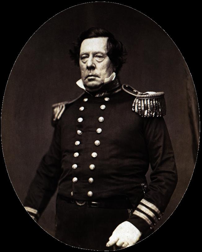 1853年率艦敲開日本幕府鎖國大門的美國東印度分艦隊司令培里(Matthew Perry),曾建議華府將台灣變成美國屬地。(取自維基百科)