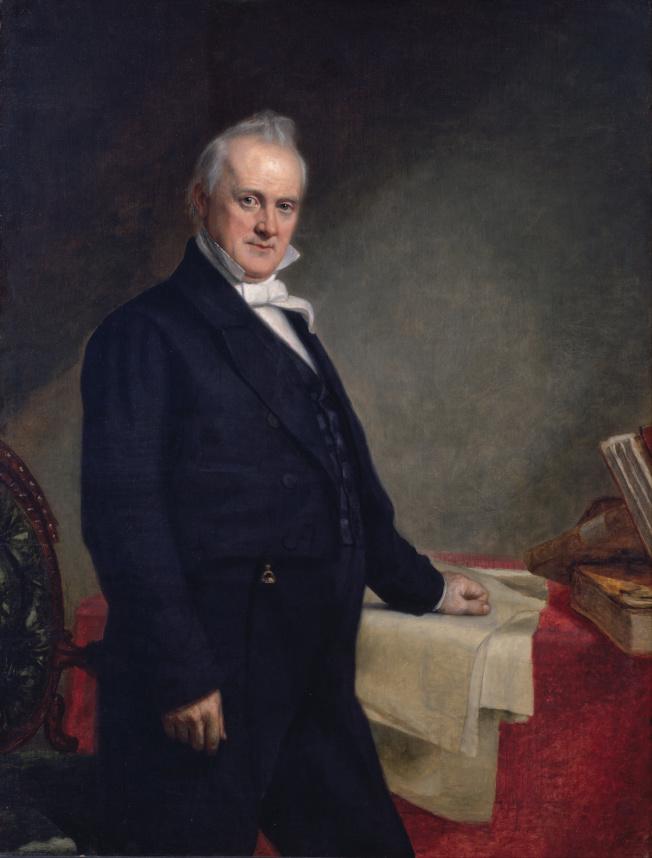 第15位總統布坎南(James Buchanan)於1857年上任後不久,否決了在亞洲建立美國屬地的計畫。(Google Art Project)