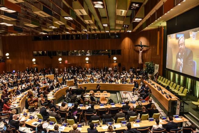 聯合國氣候行動峰會23日將在紐約舉行,聯合國秘書長古特雷斯21日先在紐約召開首屆青年氣候峰會,聽取年輕人對氣候問題的意見。 (Getty Images )