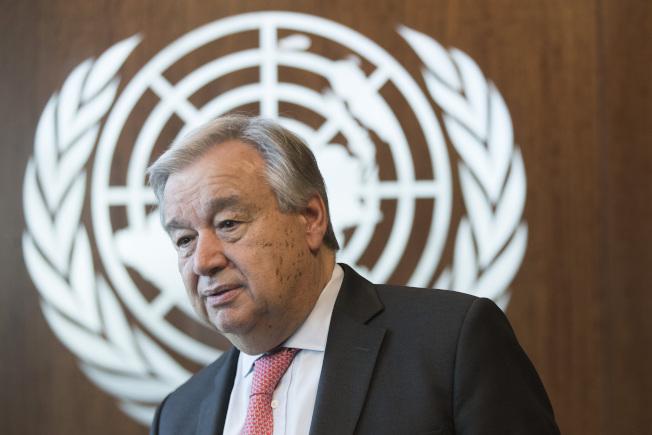 聯合國秘書長古特瑞斯將在聯大會議上疾呼,時不我予,再不行動就救不了地球暖化危機。(美聯社)