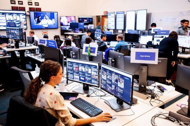 圖為臉書一處辦公室內部。(Getty Images)