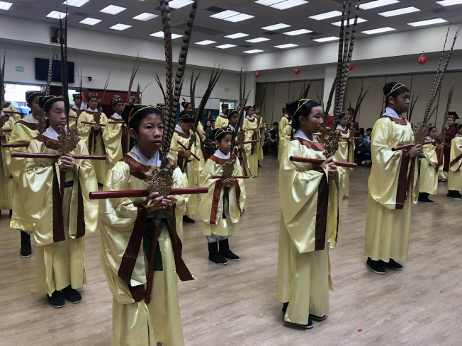 北加州的祭孔大典是海外最大的祭孔大典,每年遵循古禮舉辦。(記者李榮/攝影)