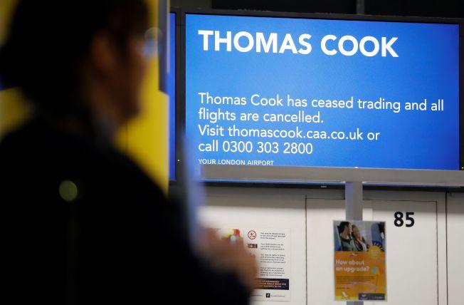 英國旅遊業者湯瑪斯庫克集團(Thomas Cook)今天宣告破產,引發英國史上最大規模的承平時期接運回國行動。Getty Images