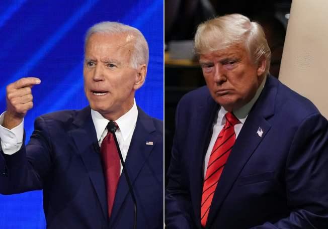 眾院宣布啟動彈劾川普總統(右圖)調查程序,前副總統白登(左圖)立即表示支持彈劾川普。(Getty Images)