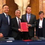 台灣農產品貿易團與堪州簽訂肉品採購意向書