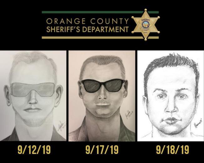 橙縣警局公布三名嫌犯畫像。(橙縣警局提供)