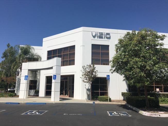 北美最大的高清液晶智能電視公司Vizio 。(記者尚穎/攝影)