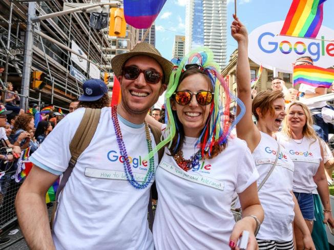 Google員工的中間薪金是16萬1254元,排第五。(Getty Images)