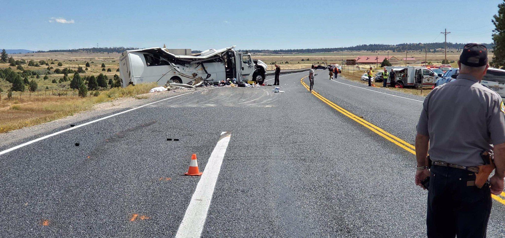 事故現場位於猶他州12號高速公路。(圖/當地警署 Garfield County Sheriff's Office)