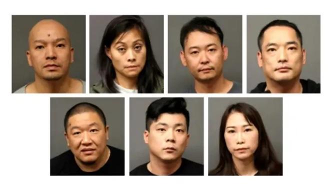 七名嫌犯日前因分銷大量的大麻以及四氫大麻酚管,遭到警方逮捕。(博根郡檢察官辦公室提供)