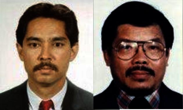 左:聯邦緝毒署臥底探員蒙托亞(George Montoya)在1988年華人販毒案中與探員西馬一同殉職,得年34歲。(DEA官網) 右:聯邦緝毒署(DEA)臥底探員西馬(Paul Seema)在拿取價值海洛因的路上,被兩名華人槍殺喪命,得年51歲。(DEA官網)