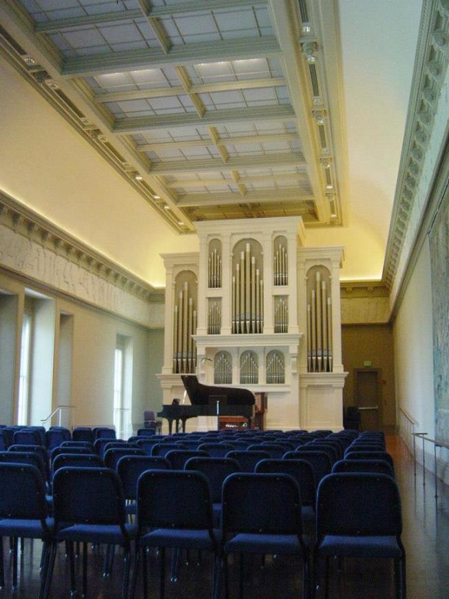 皮博迪音樂學院Griswold表演廳。(圖:校友葉宇涵提供)