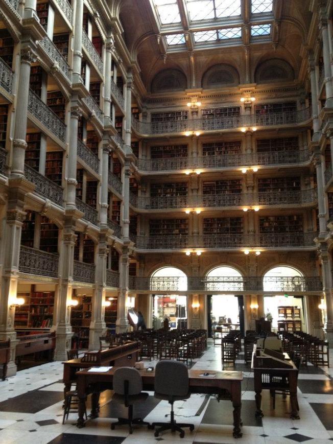 皮博迪音樂學院圖書館。(圖:校友葉宇涵提供)
