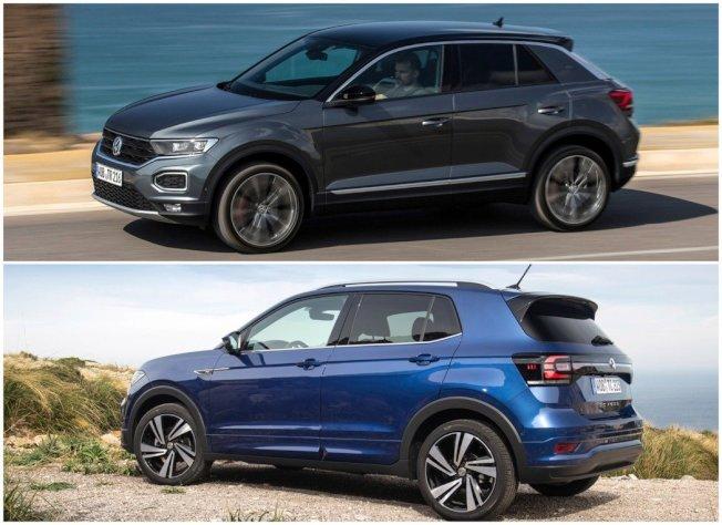 近兩年陸續發表跨界小休旅T-Roc (圖上) 與都會小休旅T-Cross (圖下)。(Volkswagen)