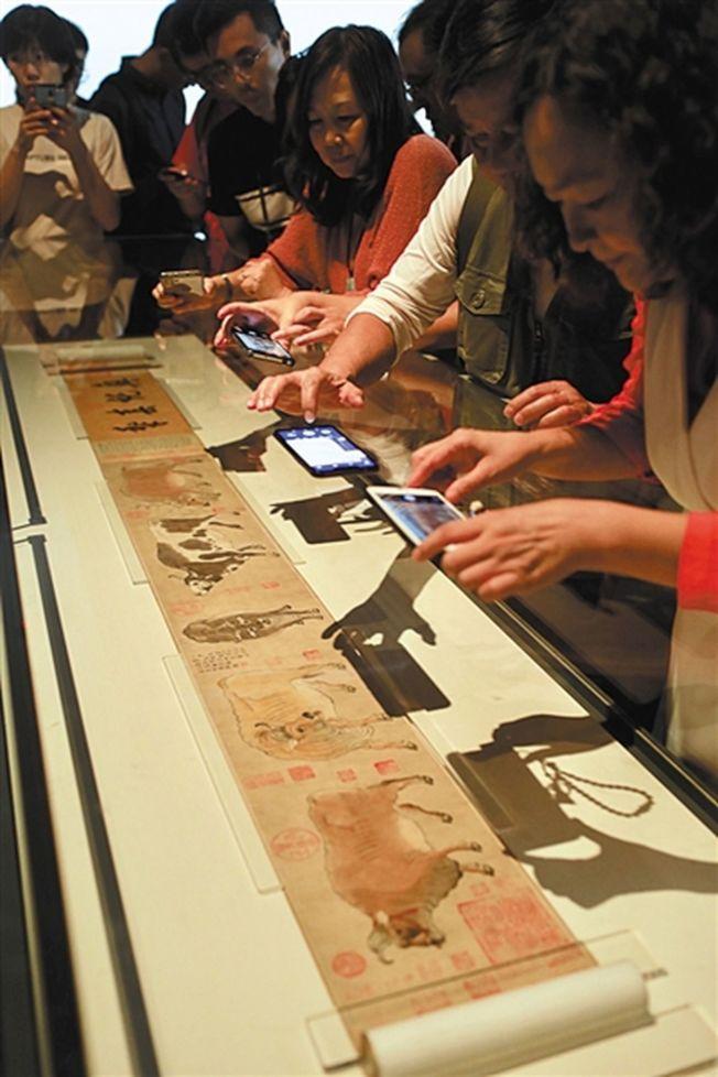 著名的《五牛圖》也出現在本次展覽中。(取材自新京報)