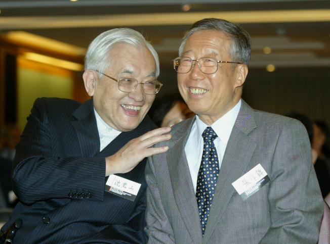 沈君山(左)和張作錦相交半世紀,兩人交往如同赤子。(王盛弘/翻攝)